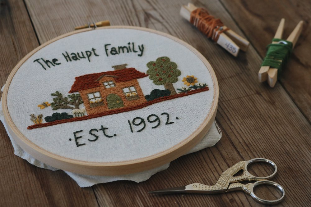 "UATR Embroidery Club | ""Our Little Home"" Hoop Introduction + Info for the New Year! - Under A Tin Roof Blog"