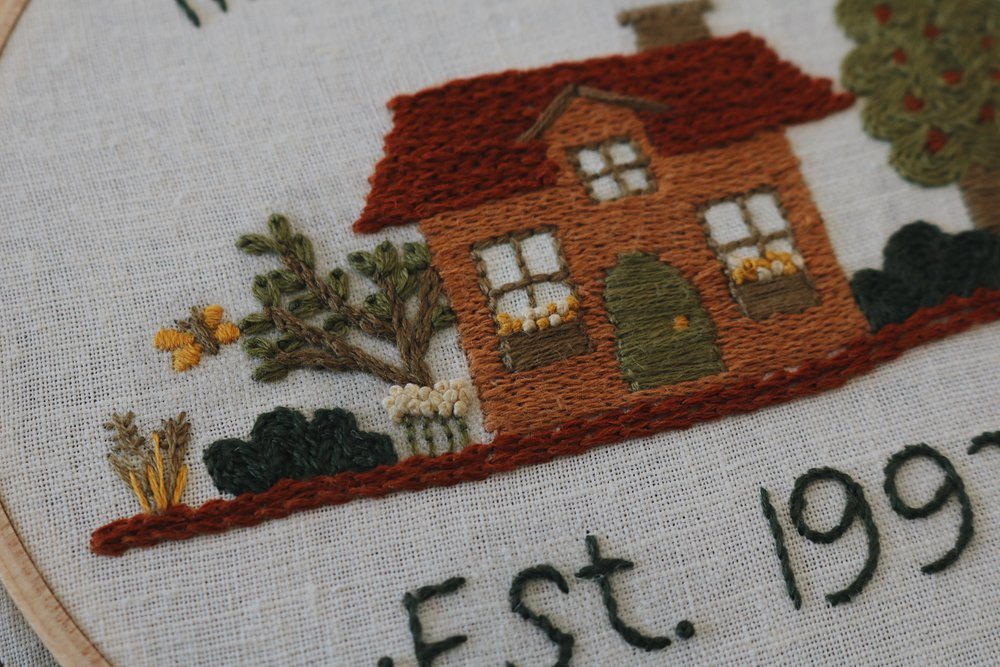 "UATR Embroidery Club | ""Our Little Home"" Hoop Introduction + Info for the New Year!"