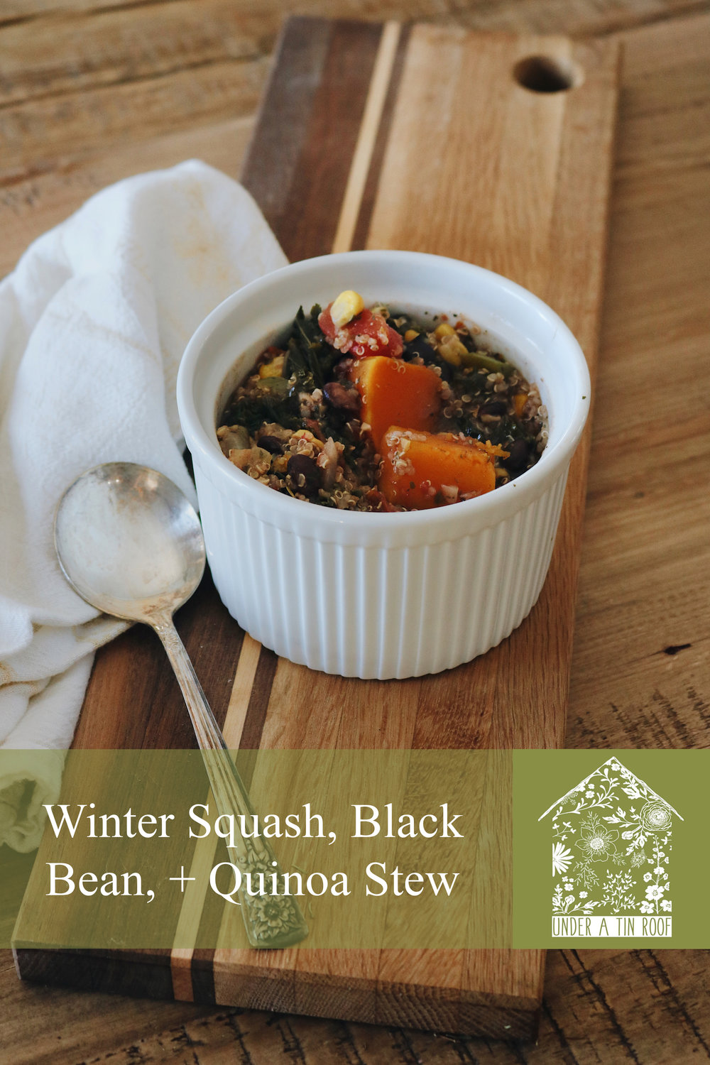 From the Garden | Winter Squash, Black Bean, and Quinoa Stew - Under A Tin Roof Blog