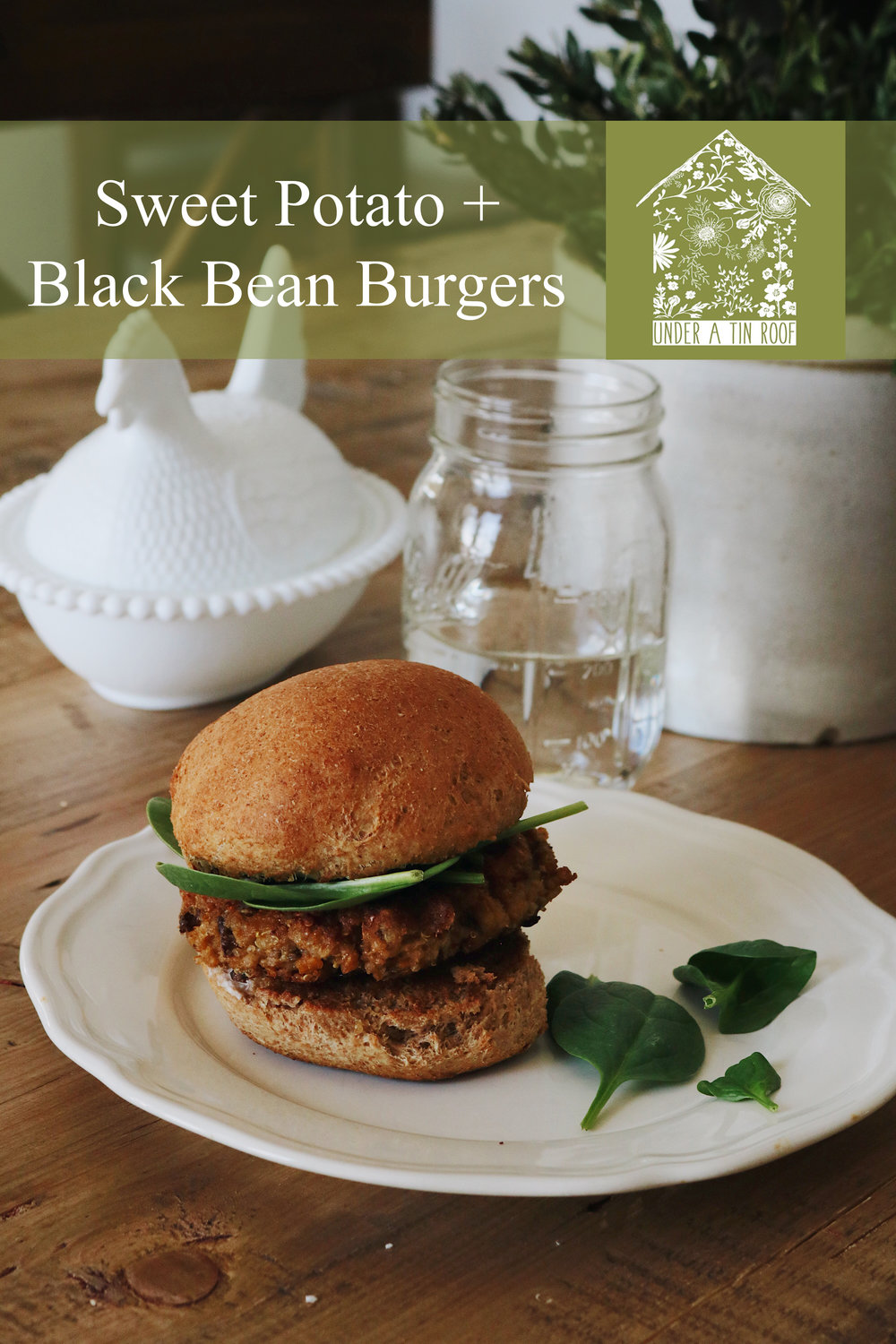 Sweet Potato + Black Bean Burgers - Under A Tin Roof Blog