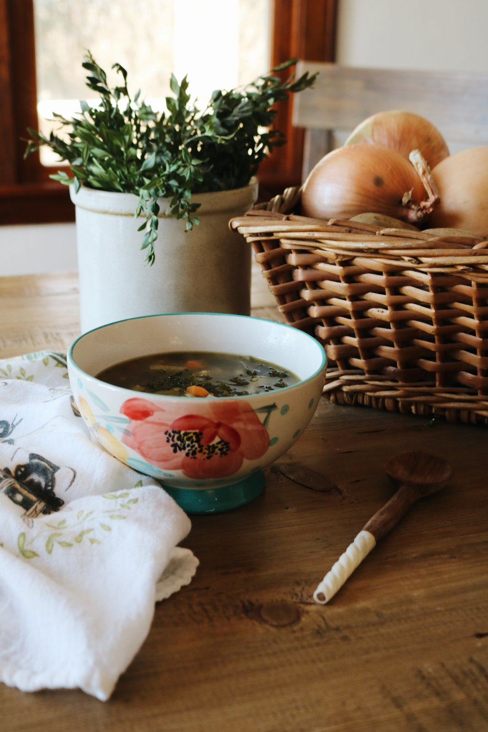 Bone Broth + A Healing Noodle Soup - Under A Tin Roof Blog