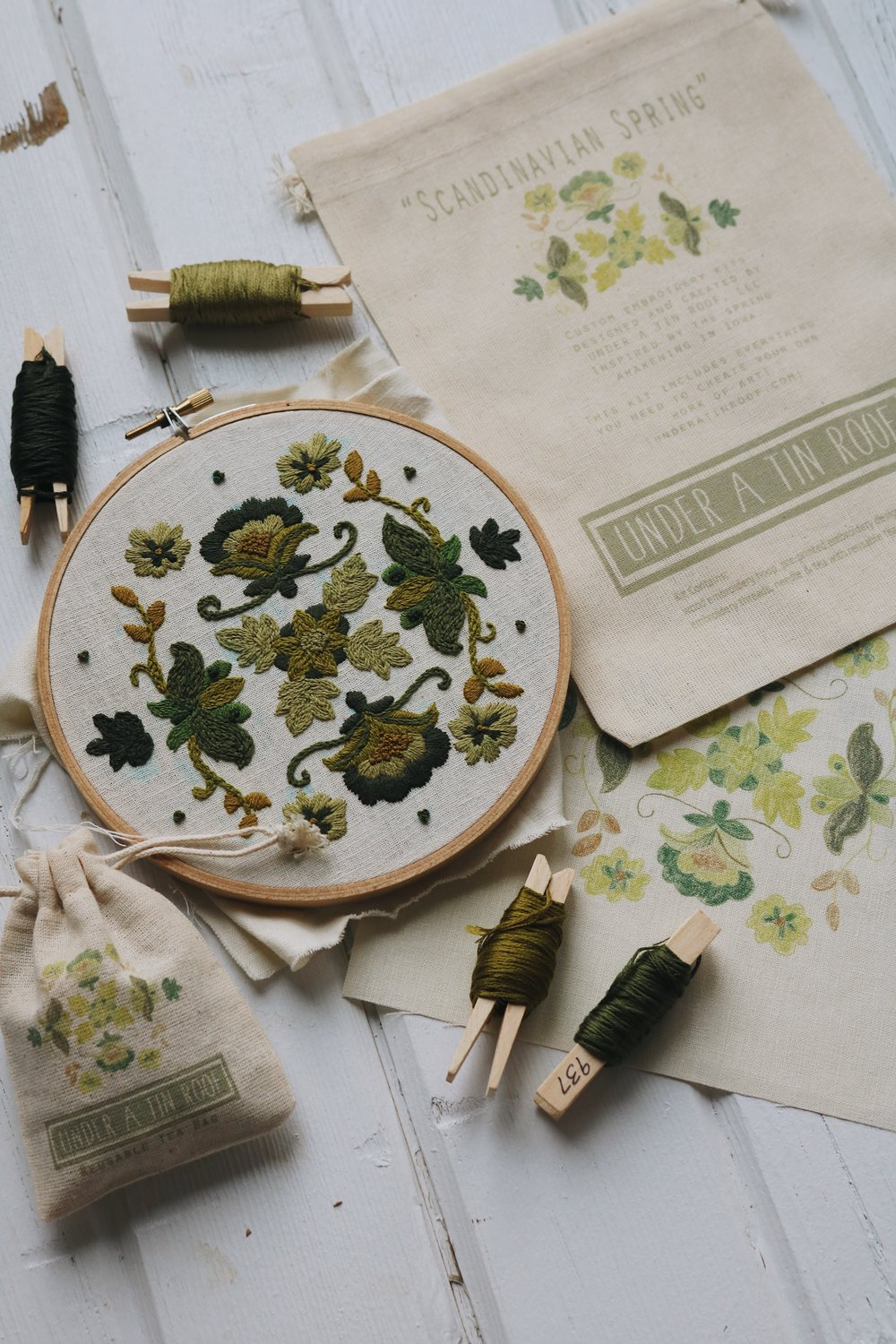 "UATR Embroidery Club | ""Scandinavian Spring"" Hoop Introduction - Under A Tin Roof Blog"