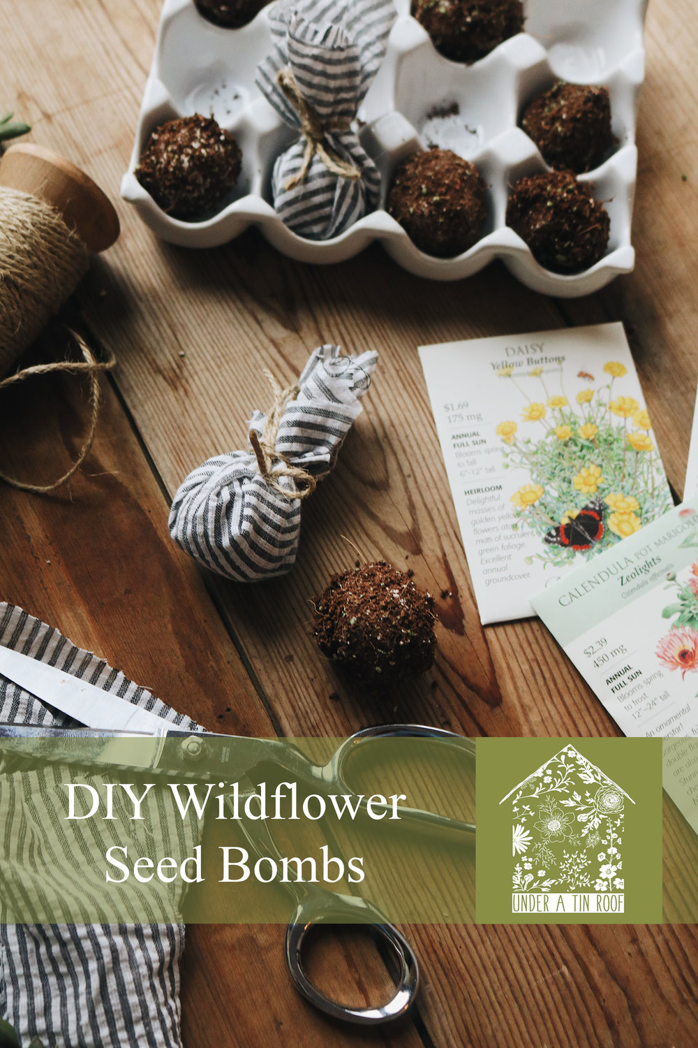 DIY Wildflower Seed Bombs - Under A Tin Roof Blog