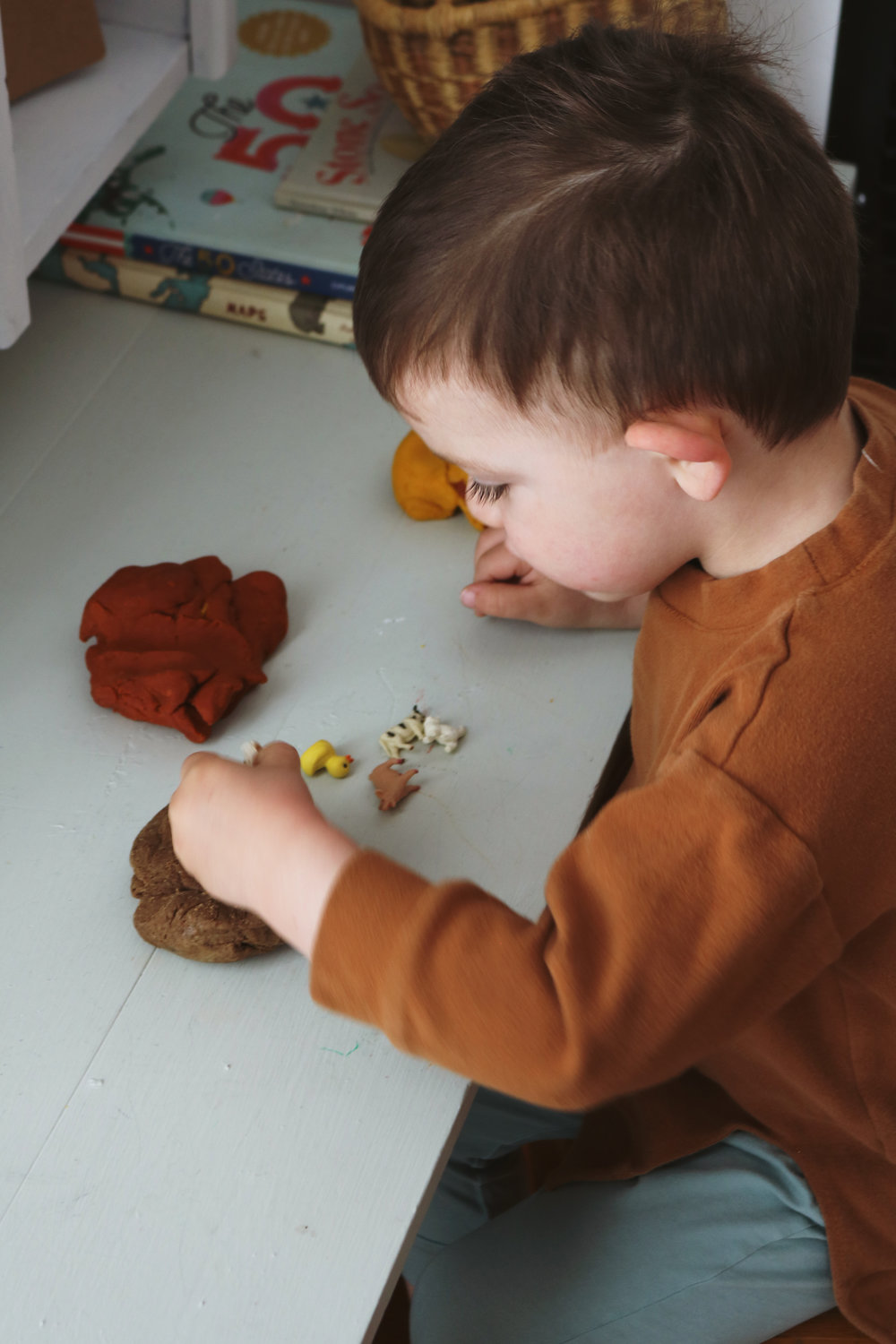 Homemade Natural Play Dough - Under A Tin Roof Blog
