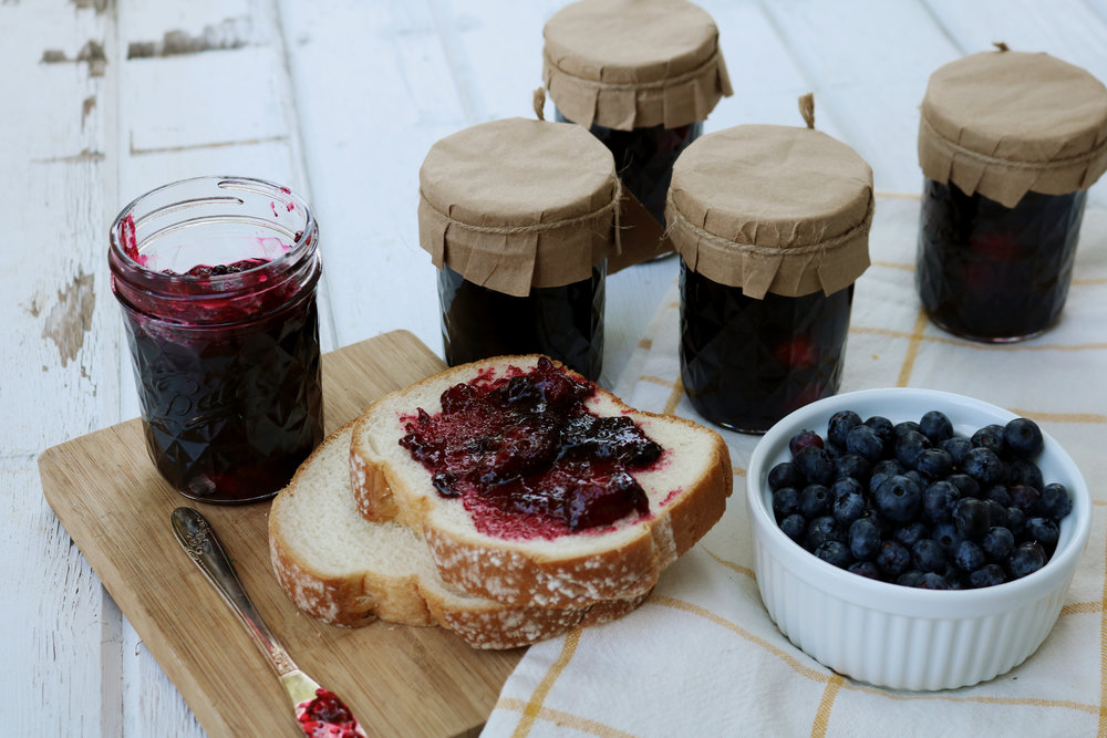 Blueberry Picking + A Mixed Berry Jam - Under A Tin Roof Blog