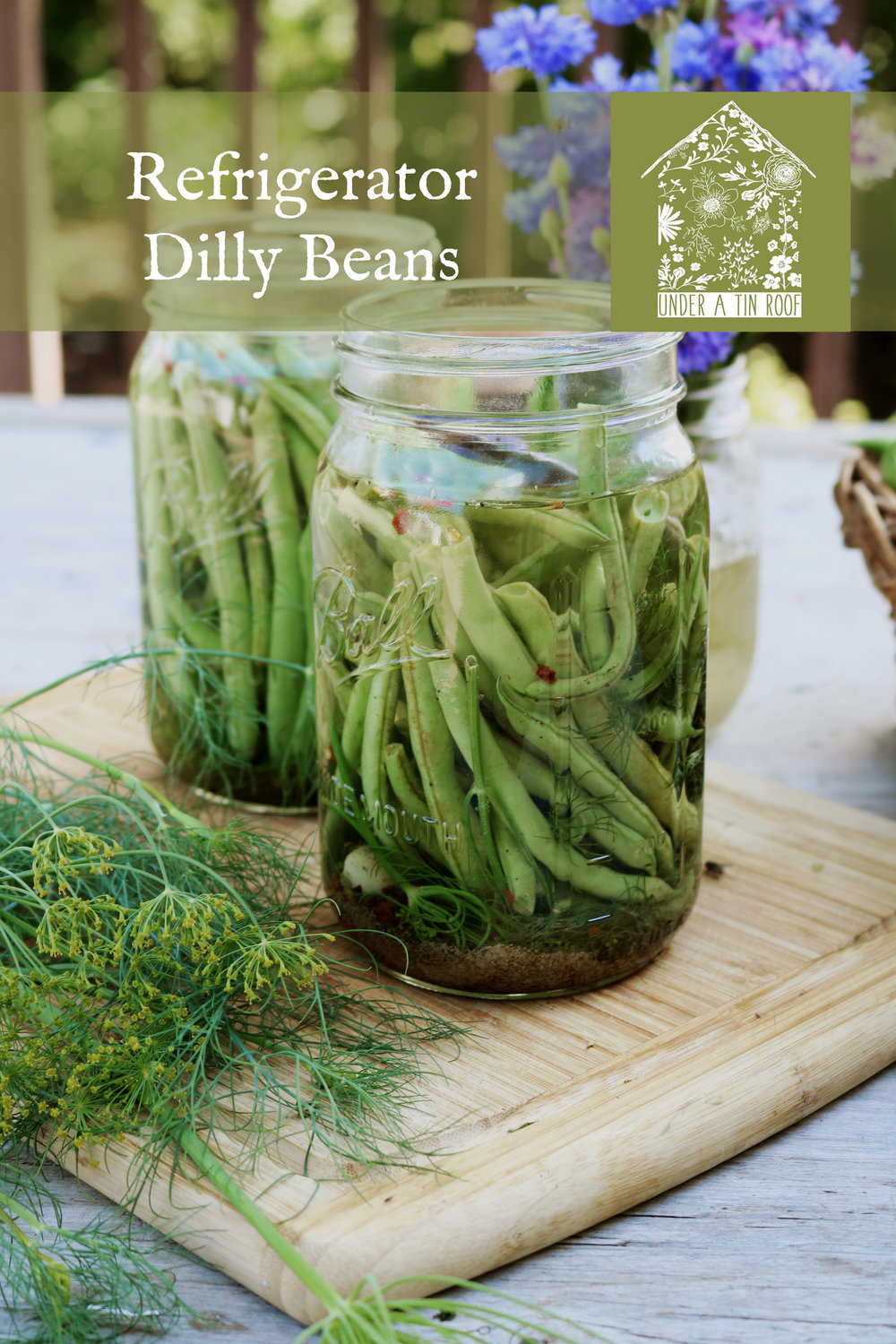 Refrigerator Dilly Beans - Under A Tin Roof Blog