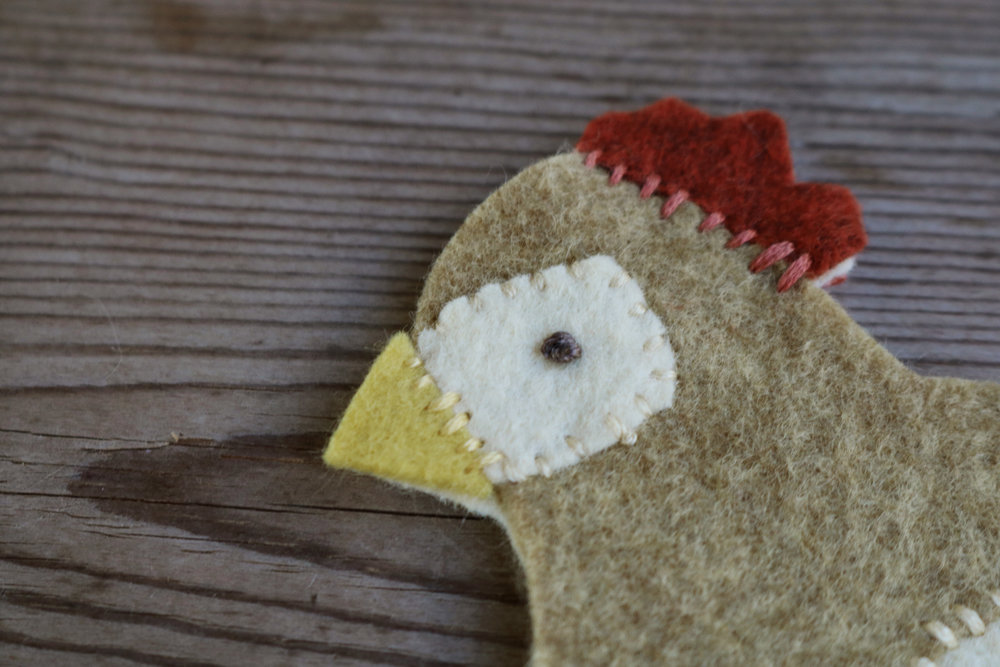 DIY Felt Chicken Ornament - Under A Tin Roof Blog