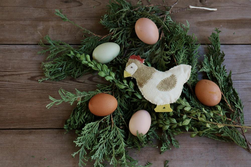 DIY Felt Chicken Ornament - Under A Tin Roof Blog