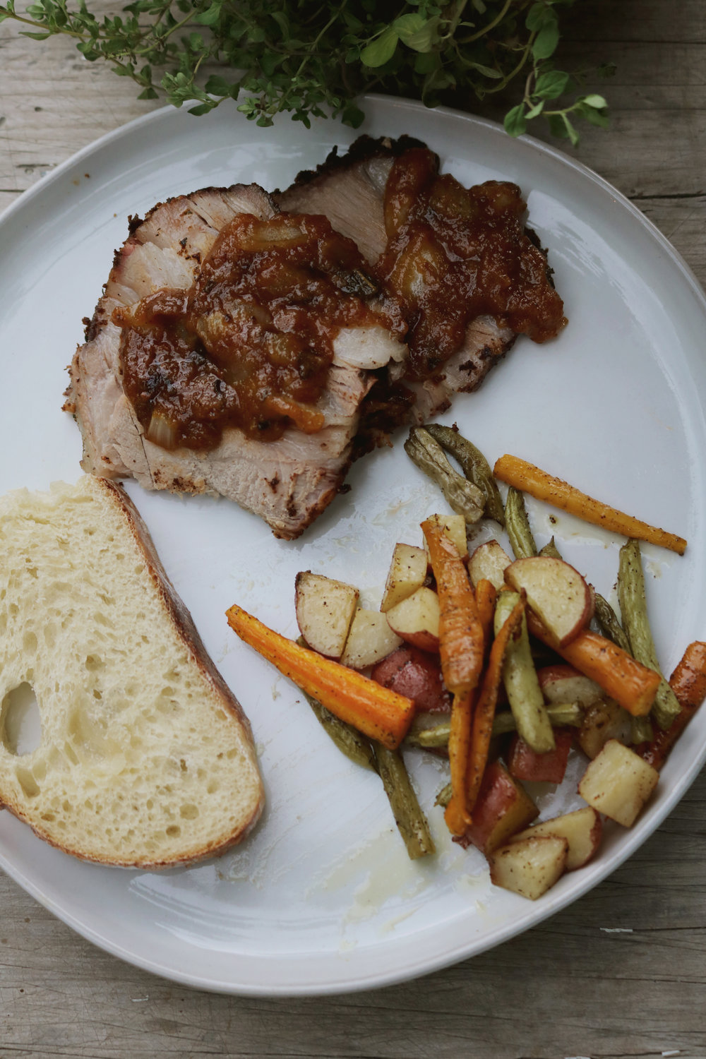French Bone-In Pork Shoulder Roast - Under A Tin Roof Blog