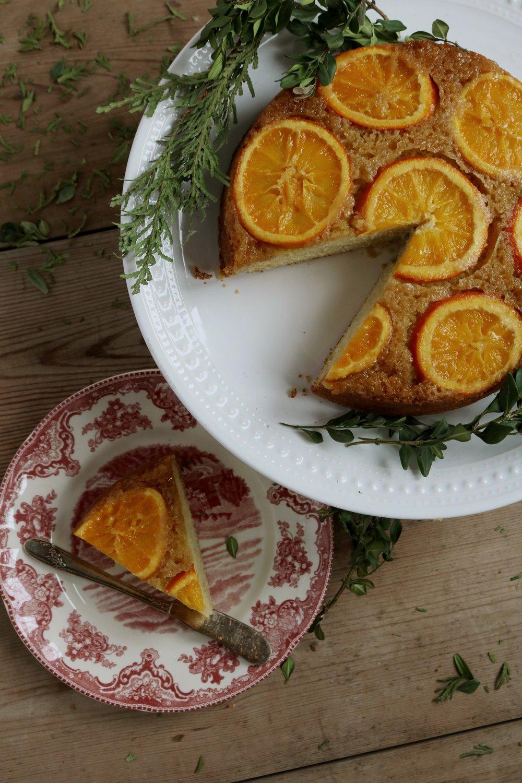 Orange Buttermilk Upside Down Cake - Under A Tin Roof Blog