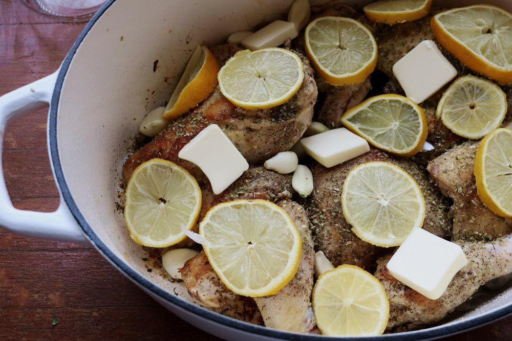 Easy Dutch Oven Lemon Chicken - Under A Tin Roof Blog