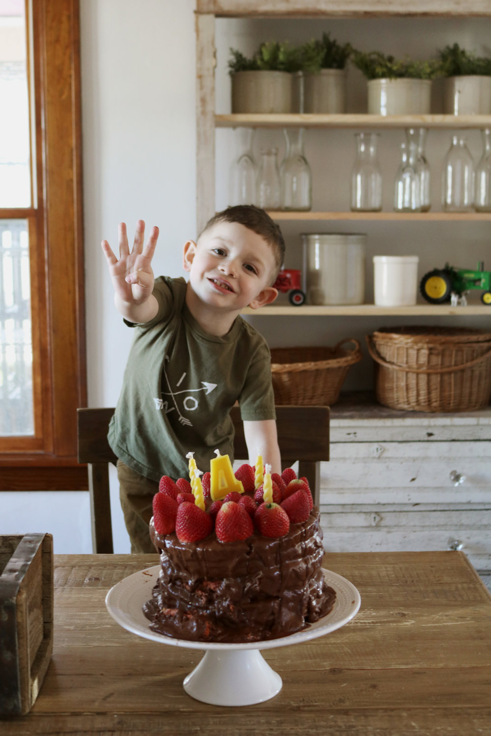 Happy Fourth Birthday, Tad! - Under A Tin Roof Blog