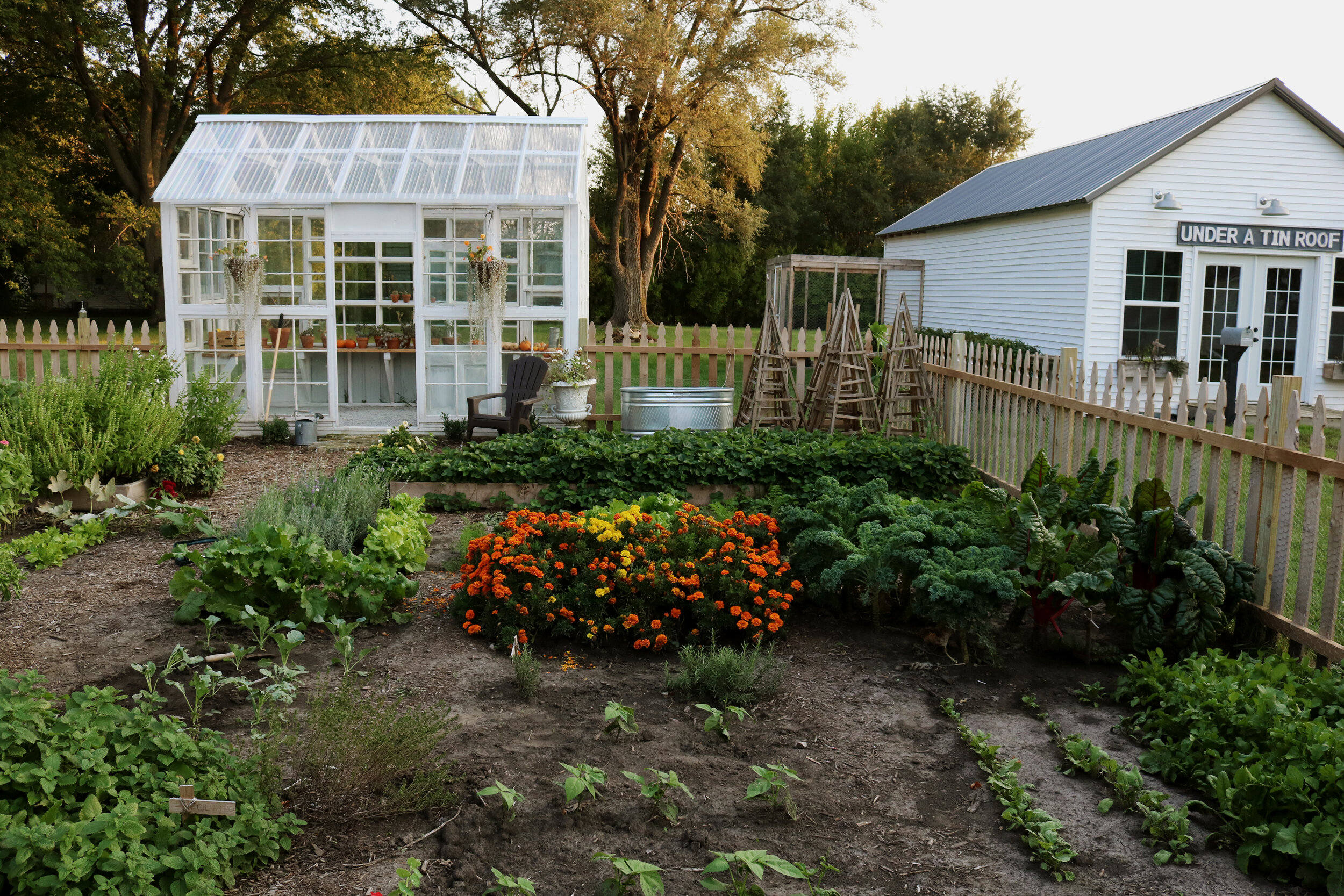 How To Make A Kitchen Garden Plan Under A Tin Roof