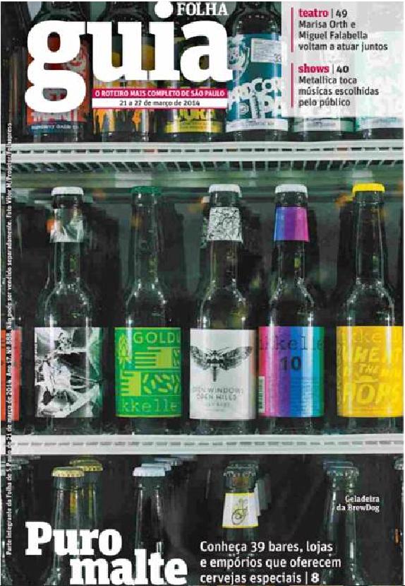 Capa Guia da Folha - BrewDog Bar