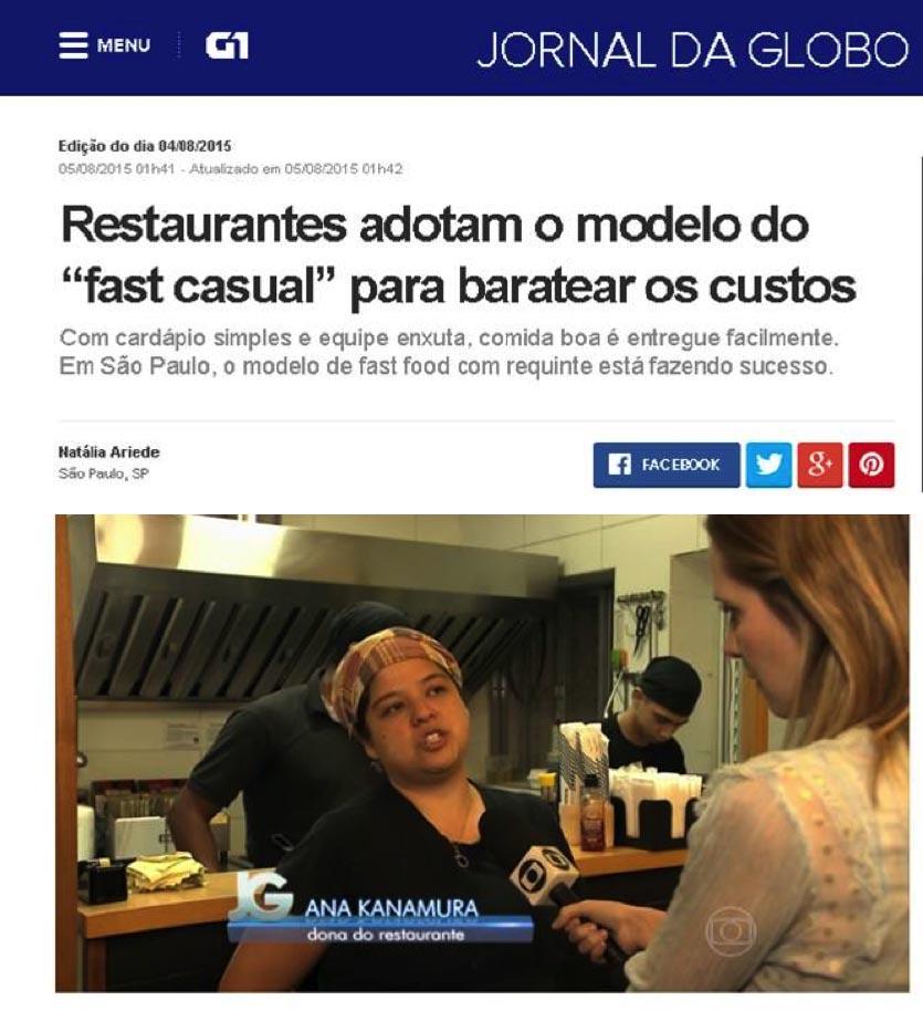 Jornal da Globo - Sanpo Bentô Deli