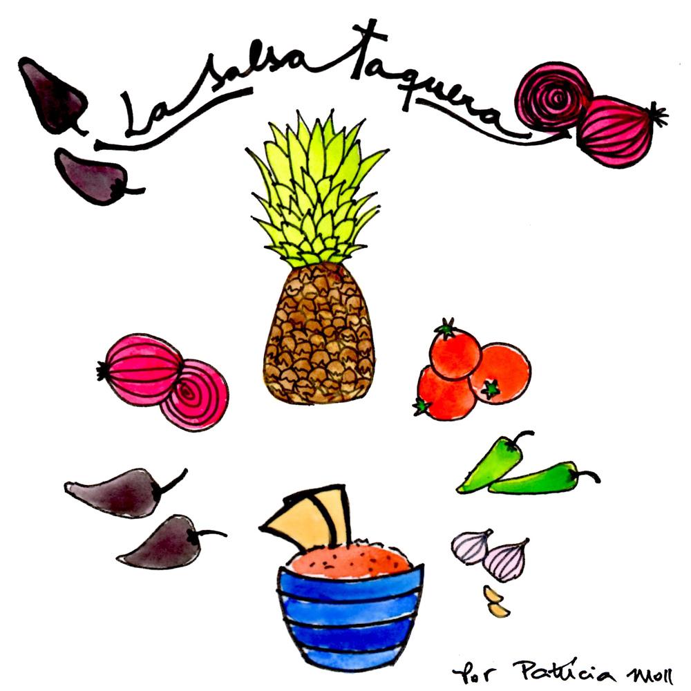 Receita ilustrada: Salsa TAquera