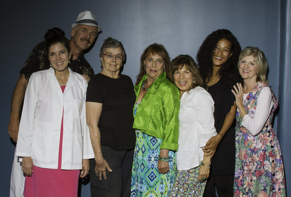 Back: Lee Imboden (Charles and Matilde's father)  Front: Lisa Orwig (Lane), Kristen Woolf (director), Ruth Fahrbach (Ana and Matilde's mother), Ana Chavez (costumes),Sorché Morgan (Matilde), Charlotte Keefe (Virginia)