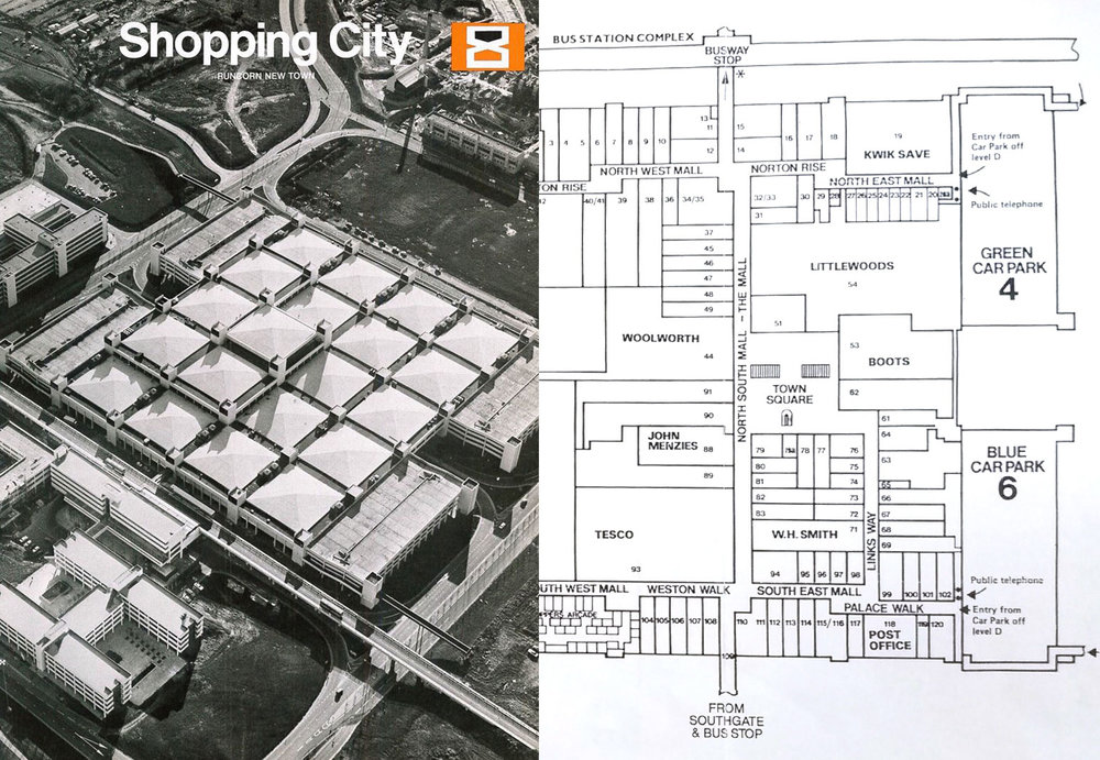 The Shopping City was designed as a new town centre
