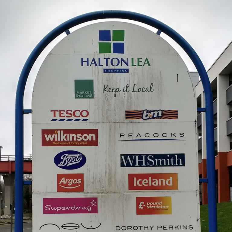 BEFORE: Halton Lea signage