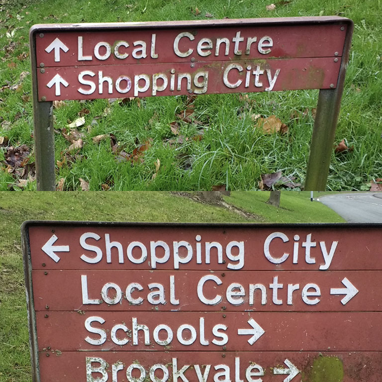 Existing housing estate signage