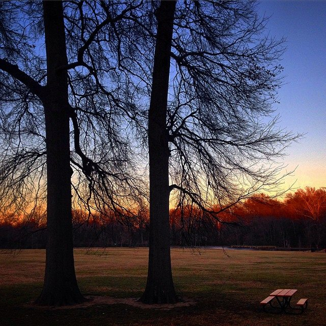 """Dusk"" at Shelby Farms Park by Memphian Bill Simmers"