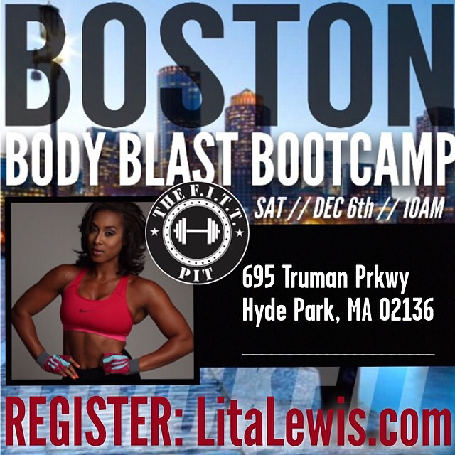 Lita Lewis will be hosting a bootcamp in Boston on Saturday, December 6th