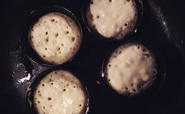 Crumpet making kind of weekend #baking