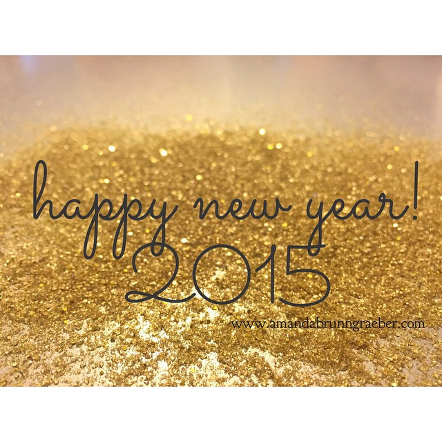 Happy New Year 2015  Glitter  amandabrunngraeber.com