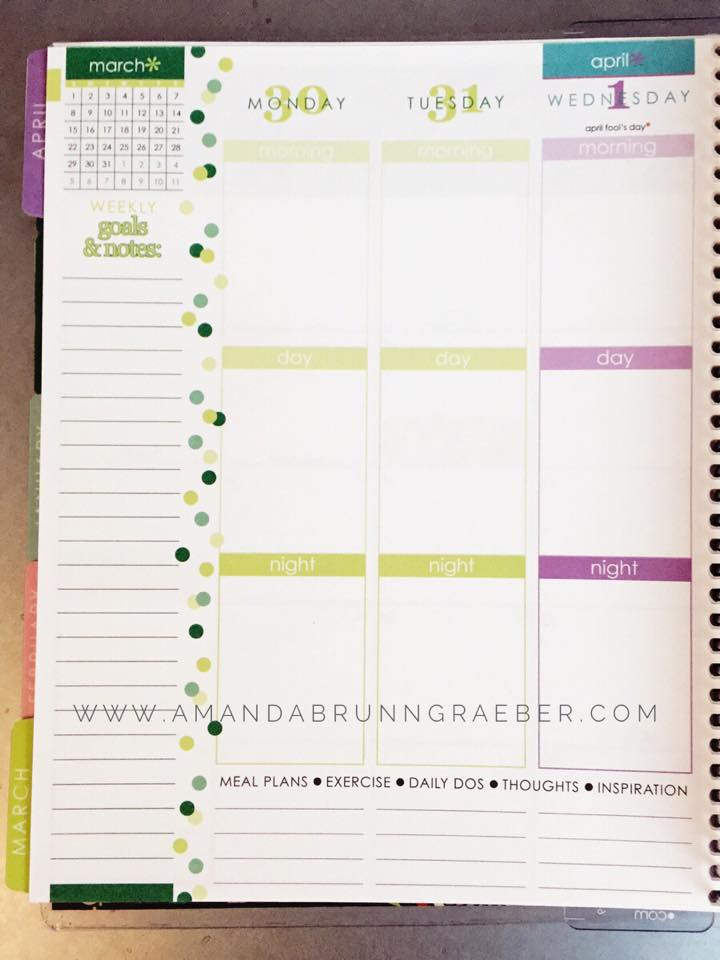 Erin Condren Life Planner Weekly View
