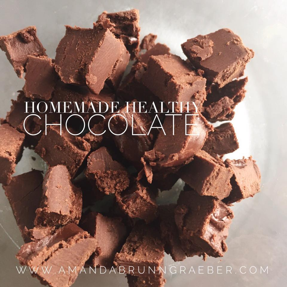 Easy Homemade Healthy Chocolate www.amandabrunngraeber.com