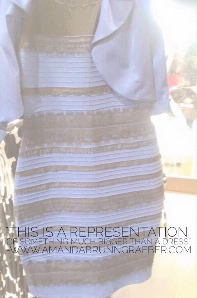 The color changing dress is more than a dress. It is a perception. One idea that has the ability to be seen in multiple lights.