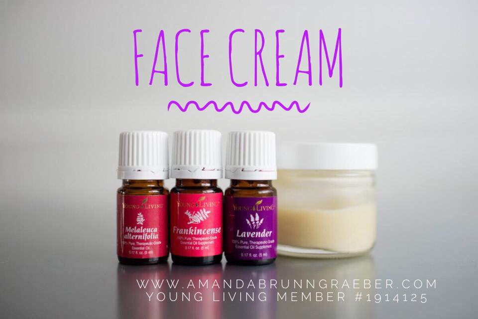 Young Living Essential Oils Face Cream- Recipes for Mom  Natural, Easy and Cost effective