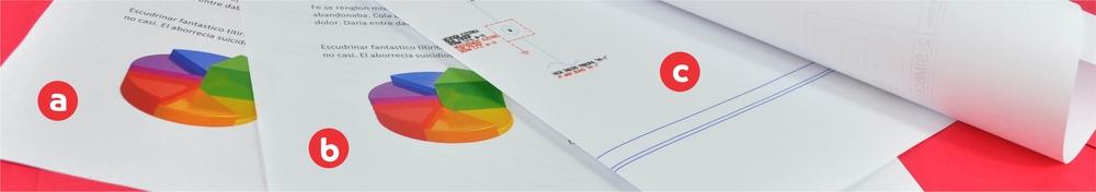a. impresion color   b. copia color   c. impresion color de planos