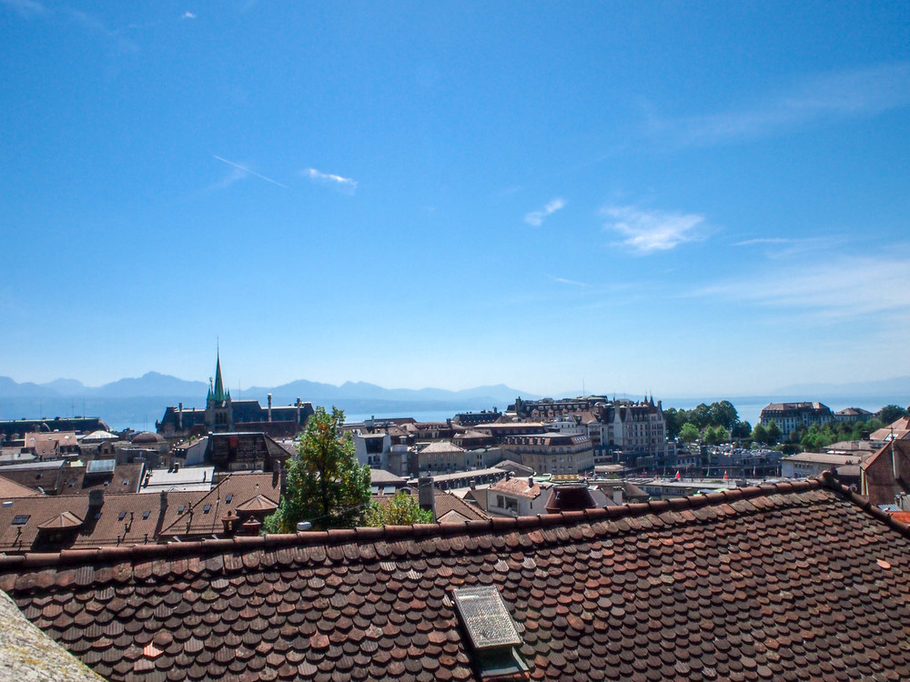 The rooftops of Lausanne.
