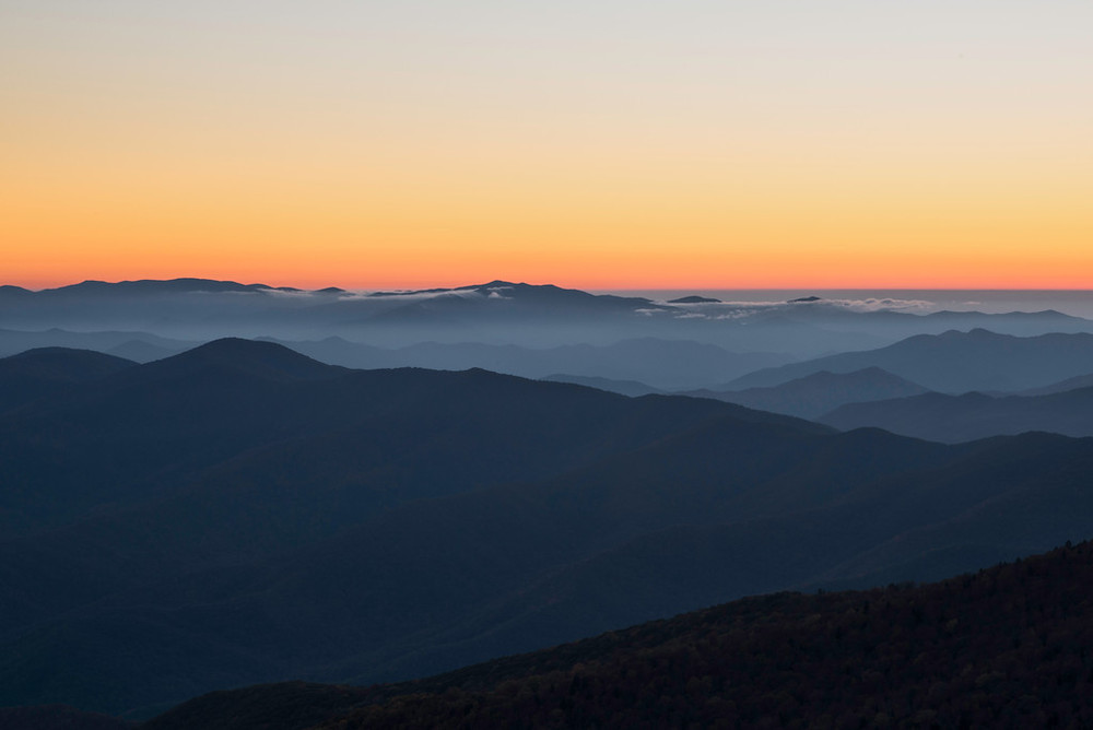 """Sunset at Clingman's Dome - Great Smoky Mountain National Park"""