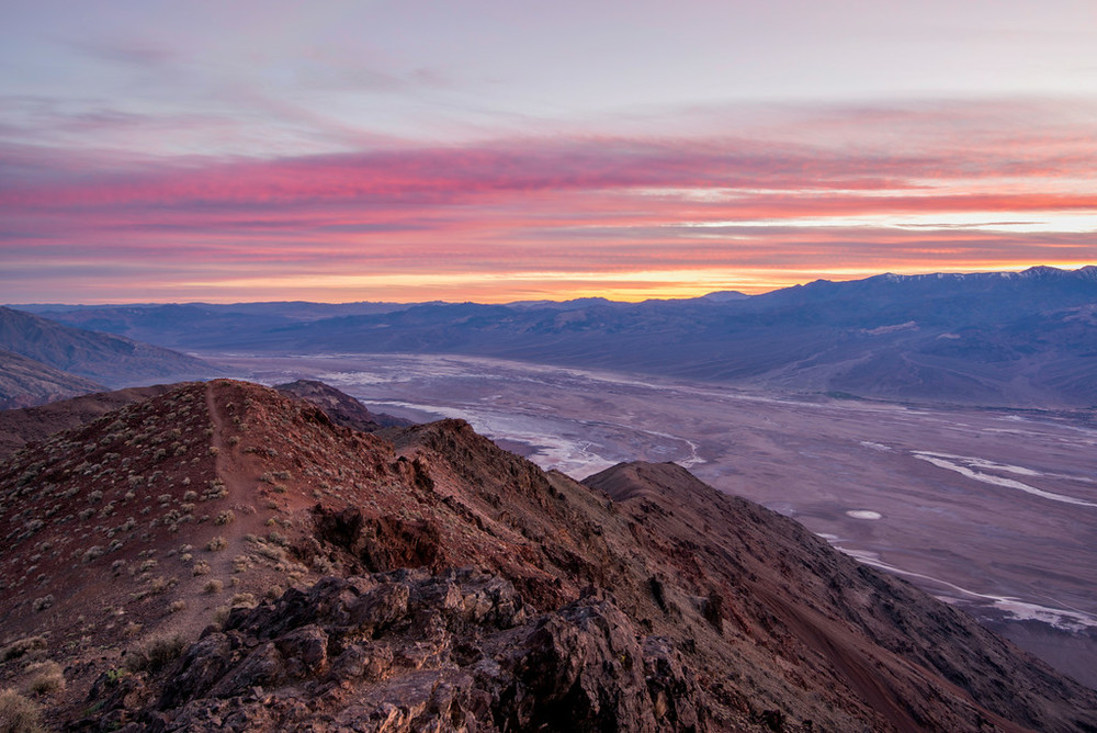 """Sunset at Dante's View -  Death Valley"""