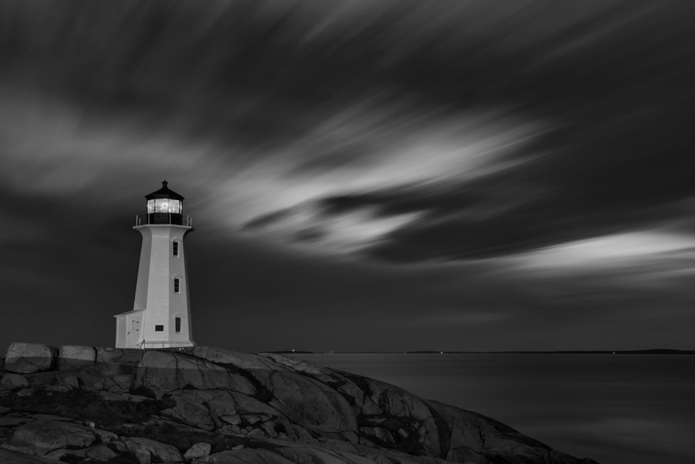 """A night at Peggy's Point LightHouse Nova Scotia"""