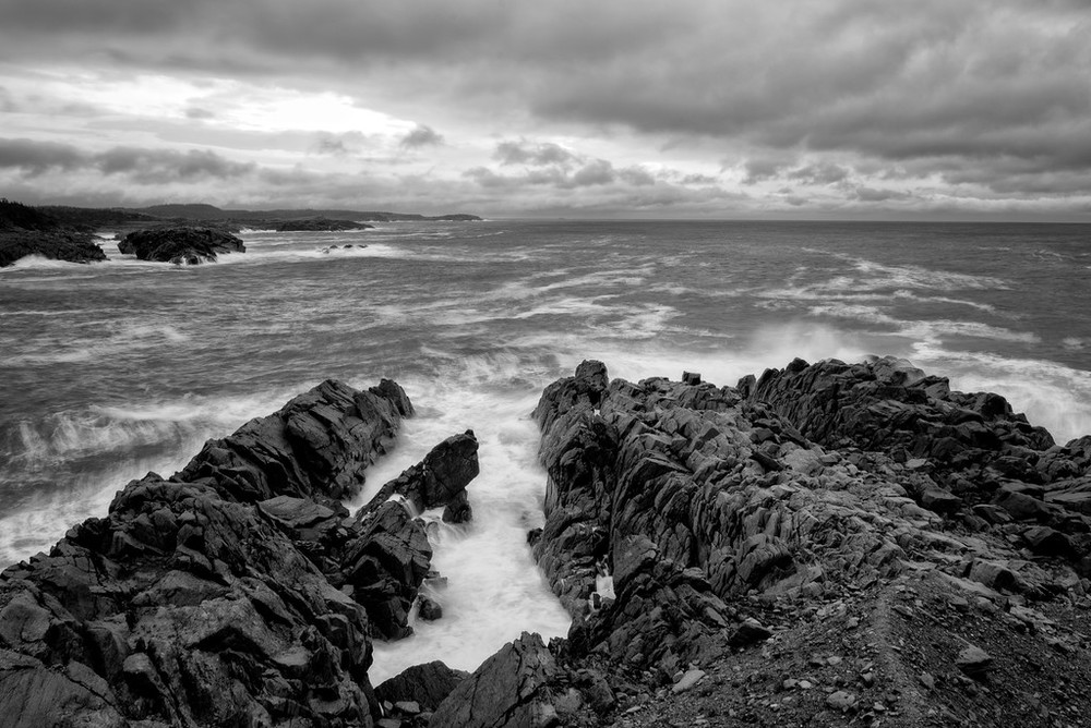 """Breakers at Louisbourg Lighthouse"""