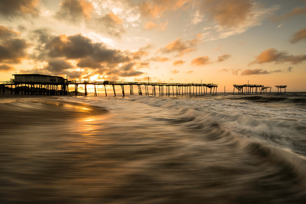 Frisco Pier Sunrise- Outerbanks NC