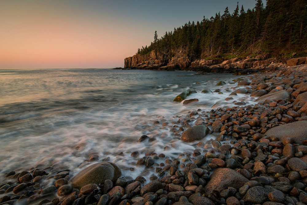 Acadia National Park - Sunrise at Boulder Beach