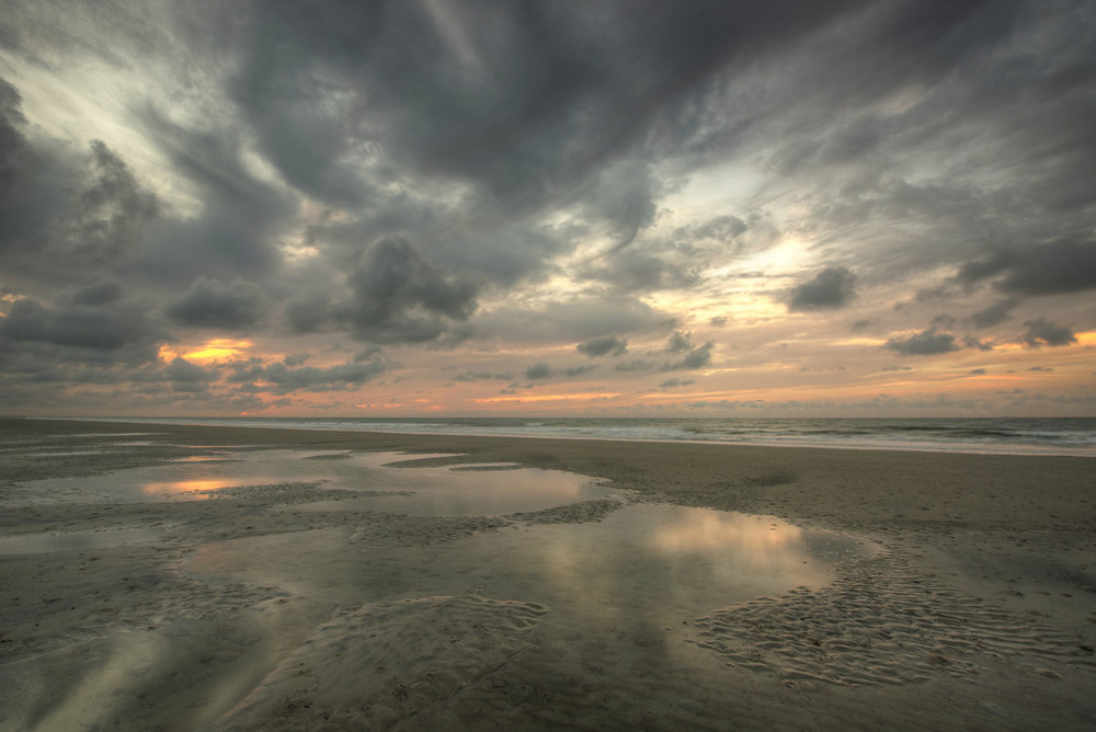 A Cloudy Sunrise In Hilton Head