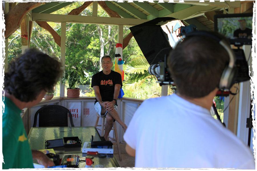 Filming Harold Iggy