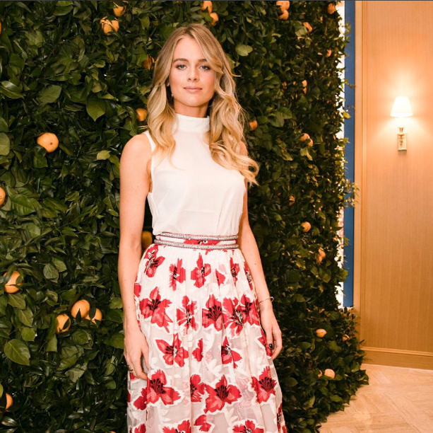 Cressida Bonas at Tory Burch London