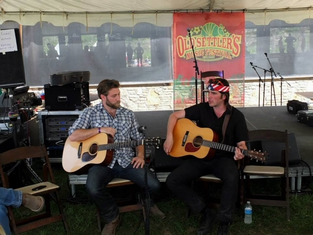 Teaching a workshop at Old Settler's Music Festival with Tony Kamel of the awesome Austin-based Bluegrass band Wood & Wire. Photo Credit: Ron Baker