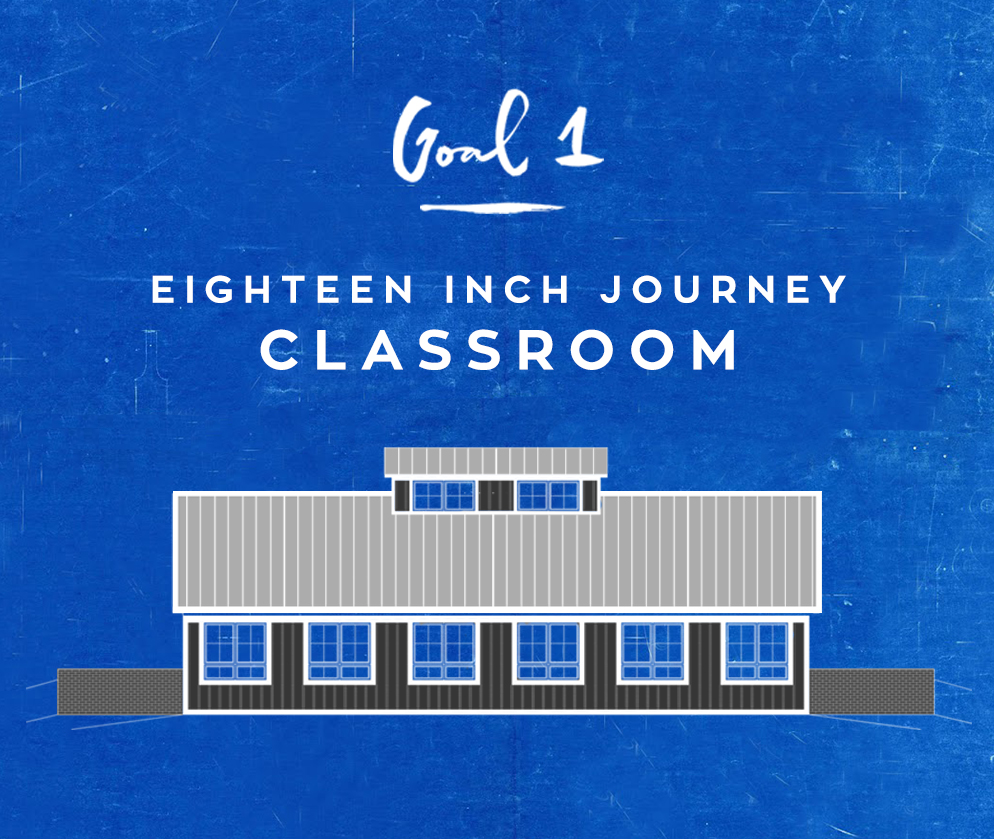 GOal 1 - 18 Inch Journey classroom FUNDS NEEDED: $100,000 of $200,000