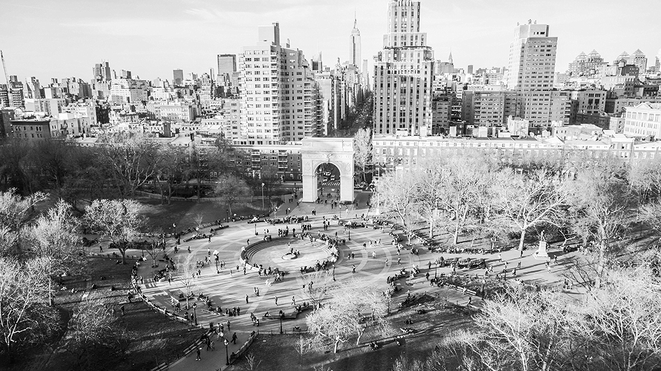 Washington Square Park, fall afternoon