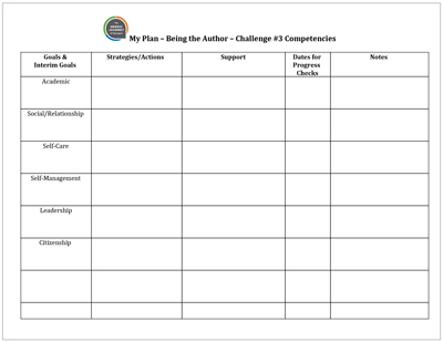 Click to download  My Plan: Competencies  Template