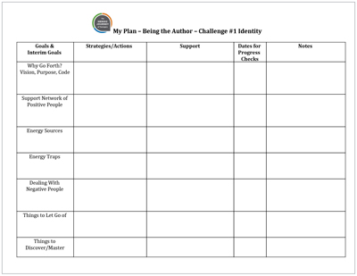 Click to download   My Plan: Managing the Journey   Template