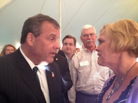 Nancy Elliott with Governor Chris Christie