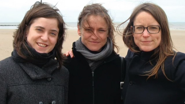 Tine Nys (in the centre) with her sisters.